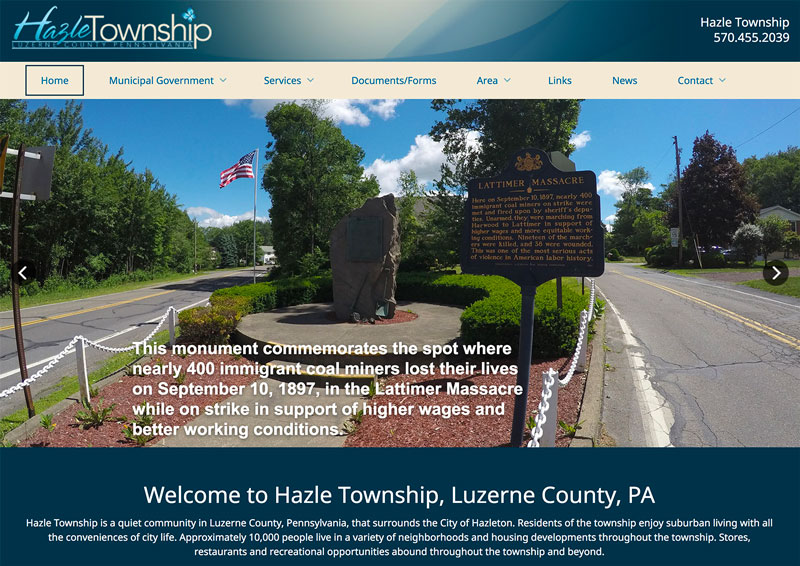Hazle Township launches new website